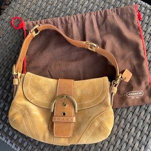 Coach Authentic suede hobo buckle purse